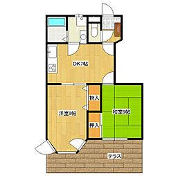 ガーデントップヒルズB1、B3[1階]の間取り