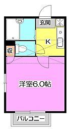 東京都西東京市ひばりが丘北2丁目の賃貸アパートの間取り