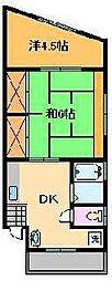 大栄コーポII[2階]の間取り