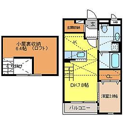 長野県長野市三輪8丁目の賃貸アパートの間取り