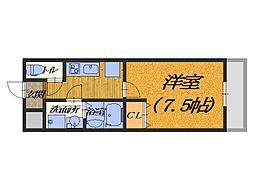大阪府堺市西区鳳中町4丁の賃貸アパートの間取り