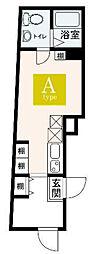 JR山手線 大塚駅 徒歩5分の賃貸マンション 3階ワンルームの間取り