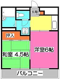 埼玉県所沢市宮本町2丁目の賃貸マンションの間取り