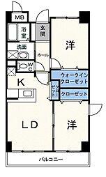 神奈川県川崎市幸区南加瀬2丁目の賃貸マンションの間取り