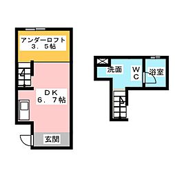 コレクション浅間町 North[1階]の間取り