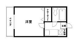 コーポ福田[301号室]の間取り