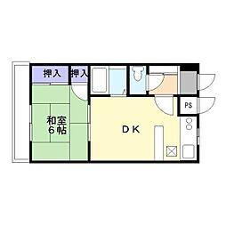 兵庫県加古川市加古川町溝之口の賃貸マンションの間取り