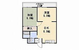 サンハウス86[ 402号室]の間取り