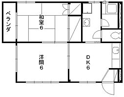 ファミールハイツ2[2階]の間取り