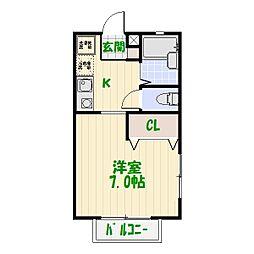 エクレール[0101号室]の間取り