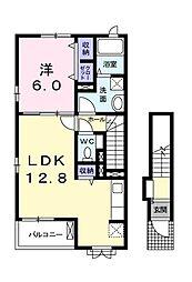 エスポワール小金井公園 B棟[2階]の間取り
