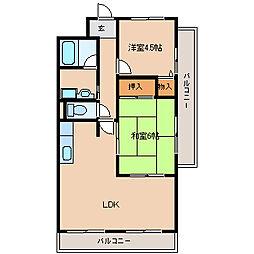 兵庫県尼崎市久々知2丁目の賃貸マンションの間取り