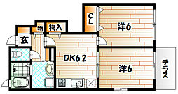 メゾングラ−スⅠ[1階]の間取り