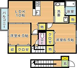 メゾンドグロウ23[2階]の間取り