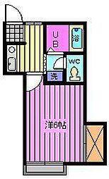 埼玉県川口市芝樋ノ爪1丁目の賃貸アパートの間取り