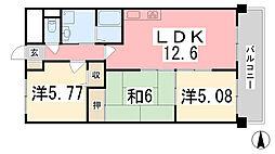 ファーレ姫路[509号室]の間取り