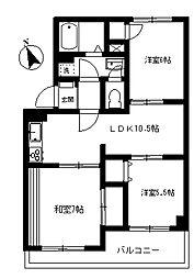 アネックスピア[3階]の間取り
