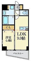 福岡市地下鉄七隈線 薬院大通駅 徒歩7分の賃貸マンション 7階1LDKの間取り