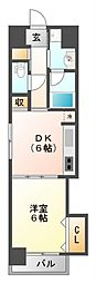 ニッケノーブルハイツ江坂[3階]の間取り