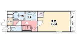 セレノ武庫川[203号室]の間取り