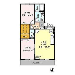 賀茂川ガーデンプレイスB[3階]の間取り