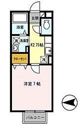 アシーナ[1階]の間取り