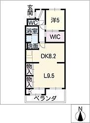 ハイツ正明寺[1階]の間取り