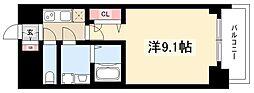 プレサンス錦通THE葵 2階1Kの間取り