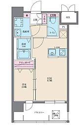 イクシオン博多[2階]の間取り