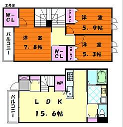 La Casa Feliz[2階]の間取り