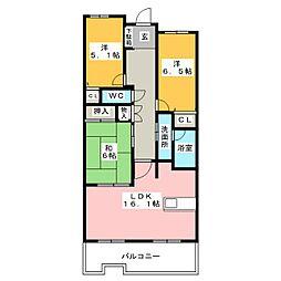 サンマンションアトレ猫ヶ洞[3階]の間取り