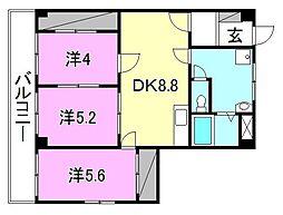 第94杉フラット[207 号室号室]の間取り