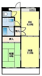 愛知県豊田市聖心町2丁目の賃貸マンションの間取り