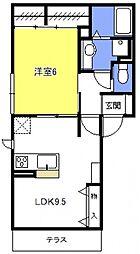 (仮称)浦和上木崎4丁目D-room[102号室号室]の間取り