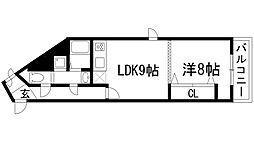 ロイヤルメゾン鹿塩弐番館[3階]の間取り