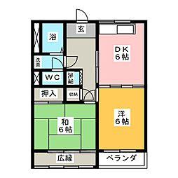 コーポナガタ[2階]の間取り