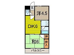 キャニオンマンション第一川口[4階]の間取り