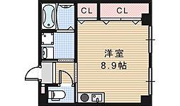 コスタ河堀口[302号室]の間取り