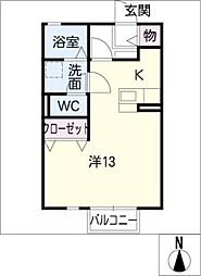 リビングタウン乙田C[1階]の間取り