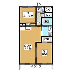 ロワールレジデンスII[2階]の間取り