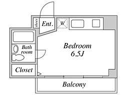 グレイスコート稲田堤[2階]の間取り