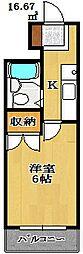 ロックグランデ船橋[3階]の間取り