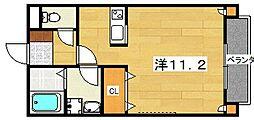 ベルリード交野[1階]の間取り