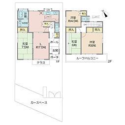 京王井の頭線 富士見ヶ丘駅 徒歩11分 4LDKの間取り