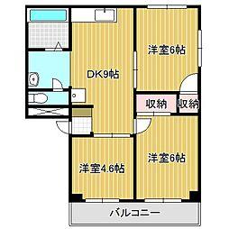 愛知県名古屋市熱田区神野町1丁目の賃貸マンションの間取り