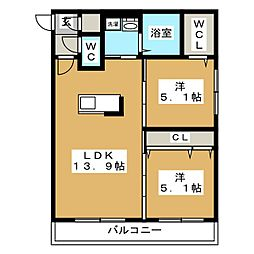 LIEN N33[2階]の間取り