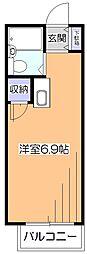 東京都東久留米市前沢4丁目の賃貸アパートの間取り