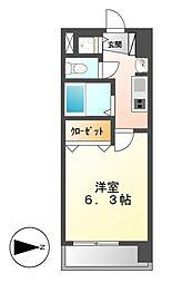 プレサンス名古屋城前ラバンカ[6階]の間取り