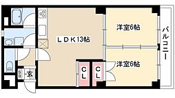 スカイコート[1階]の間取り