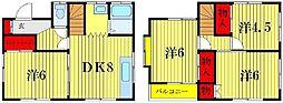 [一戸建] 東京都葛飾区東金町5丁目 の賃貸【/】の間取り